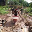 Jembatan untuk Masyarakat Desa Danti di Bengkayang Dibangun