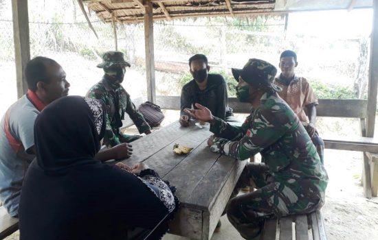 Satgas TMMD Kodim Aceh Barat Jalani Keakraban dengan Masyarakat