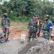 Tim Wasev Mabesad Didampingi Danrem Cek Posko dan Tinjau Lokasi TMMD di Desa Lango