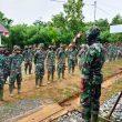 Yel-yel Personel Satgas TMMD Kodim Aceh Barat, Pertanda Segera Berakhir Kegiatan
