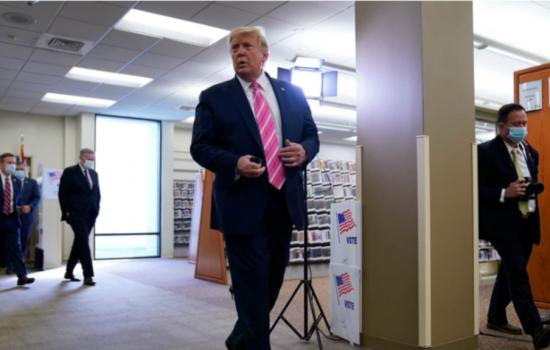 Pilpres AS 2020: Trump Mencoblos di Florida