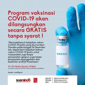 [INFOGRAFIS] Program Vaksinasi adalah Gratis