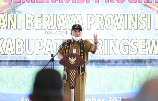 Gubernur Lampung Launching Program Kartu Petani Berjaya di Pringsewu