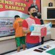 Pengedar Bawa Narkoba dari Malaysia Dibekuk Polres Sambas