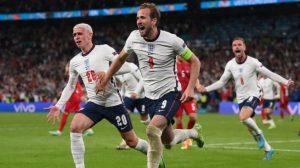 Inggris vs Denmark: Menang 2-1, The Three Lions Tantang Italia di Final Euro 2020