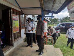 Polres Landak Bersama Satgas PPKM Mikro Cek Dua Desa Zona Merah