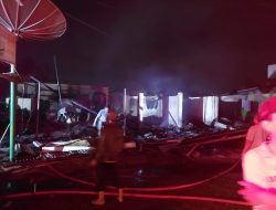Damkar Pessel Catat 15 Bangunan Terbakar Pada Kebakaran Pasar Kambang